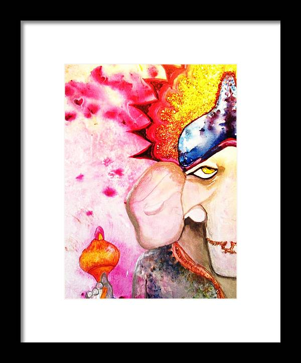 Elephant Framed Print featuring the painting Brilliant Ganesh by Meshal Hardie