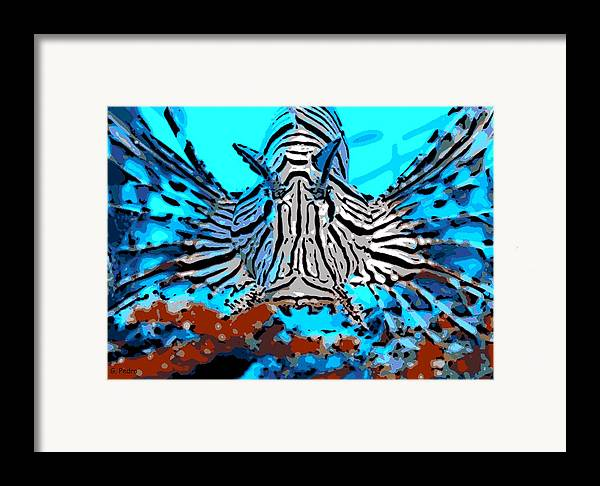 Lion Fish Framed Print featuring the photograph Brilliant Stripes by George Pedro