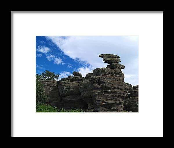 Rocks Framed Print featuring the photograph Brimham Rocks by Steve Watson