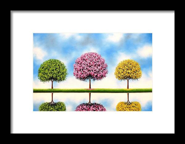 Tree Painting Framed Print featuring the painting Bring Me Blue Skies by Rachel Bingaman