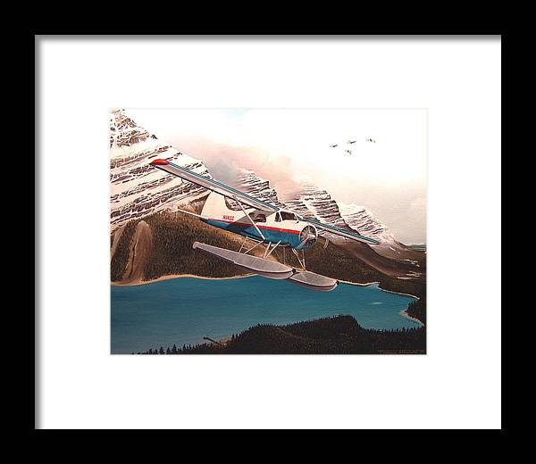 Aviation Framed Print featuring the painting Bringing Home The Groceries by Marc Stewart