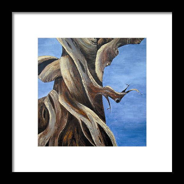 Bristlecone Framed Print featuring the painting Bristlecone Tree No. 1 by Wanda Pepin