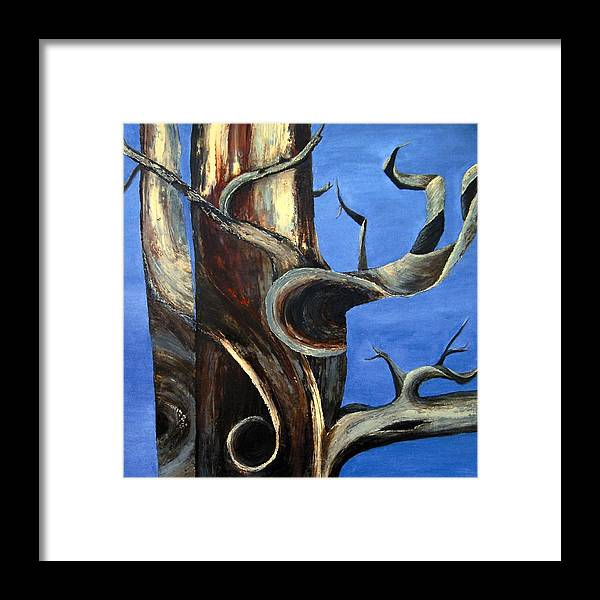 Bristlecone Framed Print featuring the painting Bristlecone Tree No. 2 by Wanda Pepin