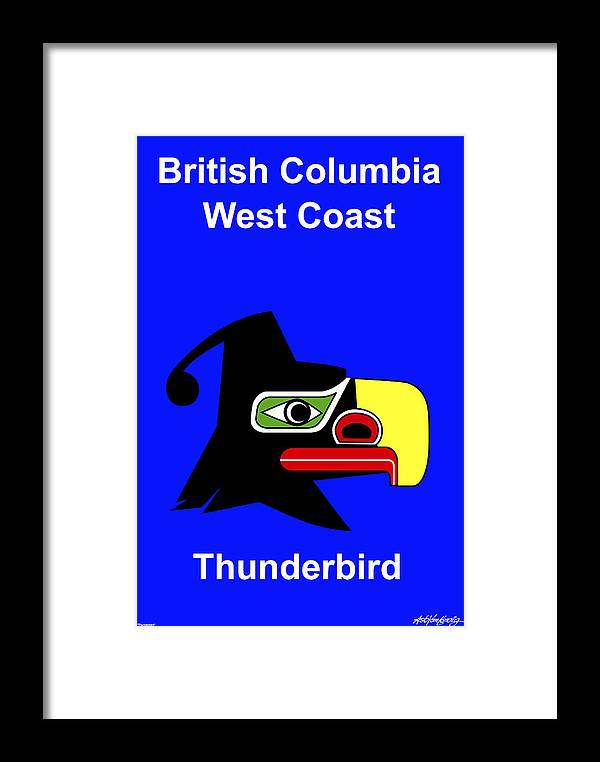 Framed Print featuring the digital art British Columbia West Coast by Asbjorn Lonvig