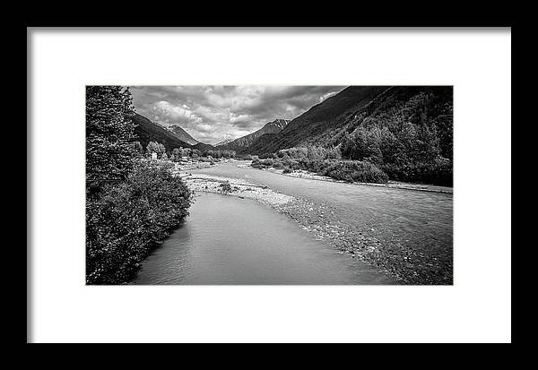 White Framed Print featuring the photograph British Columbia White Pass Panorama by Alex Grichenko