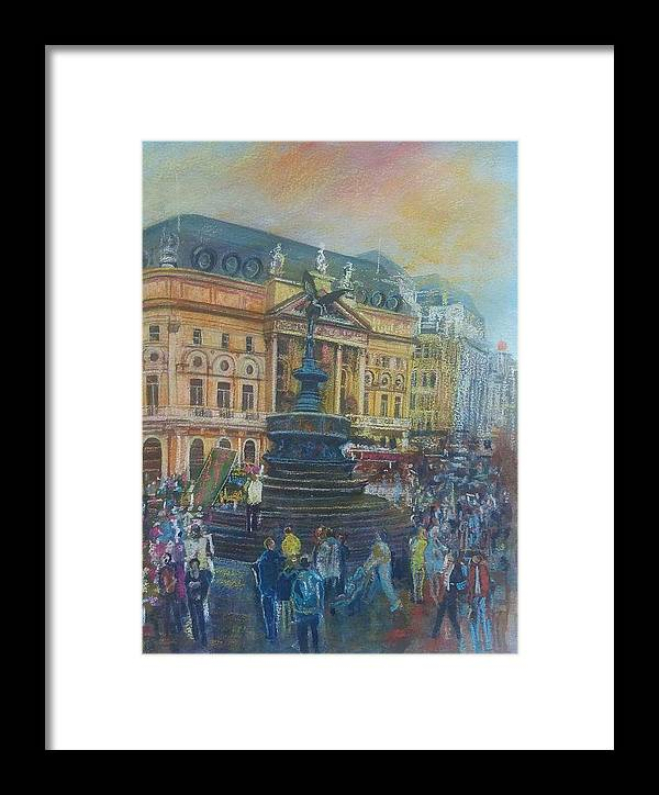 England City Framed Print featuring the painting Brittain by Matthew Evans