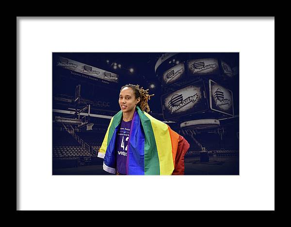 Brittney Griner Framed Print featuring the photograph Brittney Griner Lgbt Pride 4 by Devin Millington