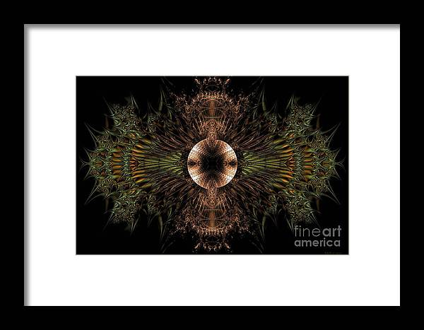 Broach Of Dried Leaves / Warm Framed Print featuring the digital art Broach Of Dried Leaves / Warm by Elizabeth McTaggart
