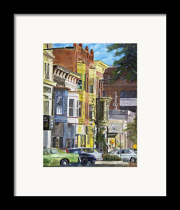 Cityscape Framed Print featuring the painting Broad Street by CJ Rider