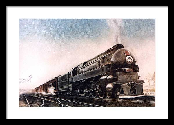 Trains Framed Print featuring the painting Broadway Limited by David Mittner