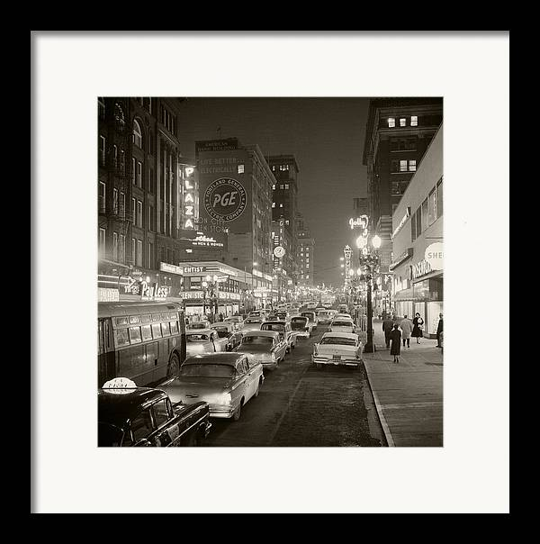 Framed Print featuring the photograph Broadway by Unknown