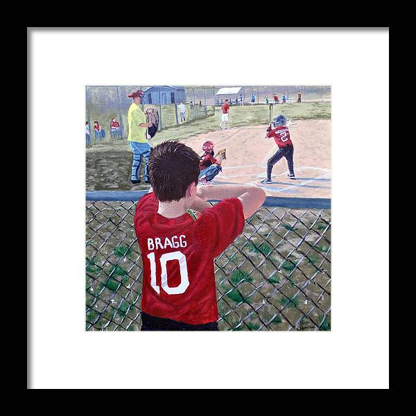 Child Framed Print featuring the painting Brock by Stan Hamilton
