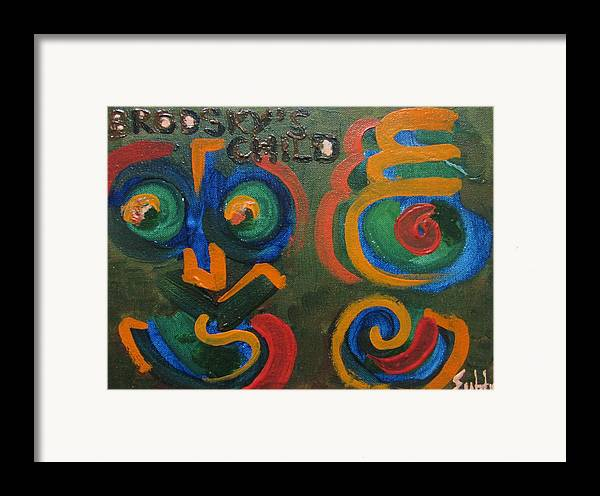 Letters Framed Print featuring the painting Brodsky's Child by Subhorup Dasgupta