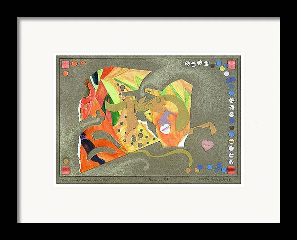 Collage Framed Print featuring the mixed media Broken And Mended by Eileen Hale
