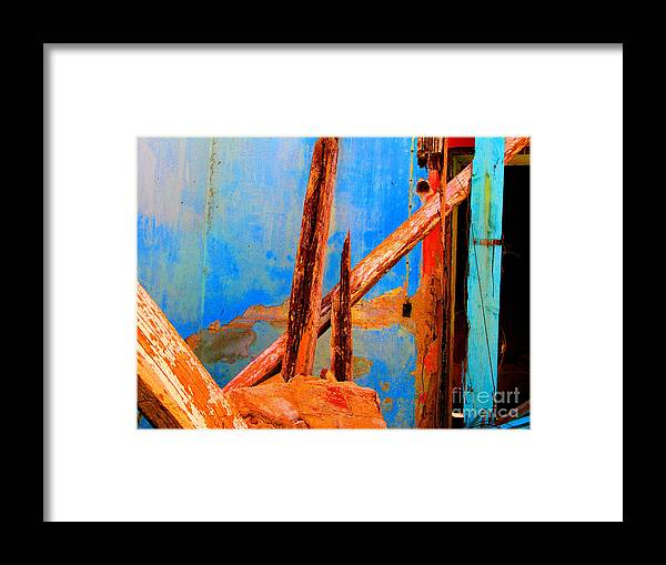 Michael Fitzpatrick Framed Print featuring the photograph Broken Beams By Michael Fitzpatrick by Mexicolors Art Photography