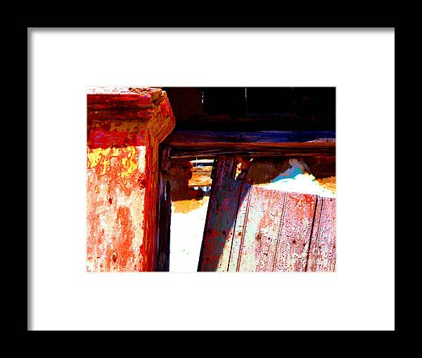 Michael Fitzpatrick Framed Print featuring the photograph Broken Door By Michael Fitzpatrick by Mexicolors Art Photography