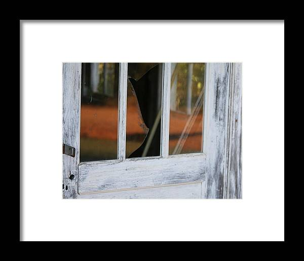 Old Framed Print featuring the photograph Broken Door by Lisa Johnston