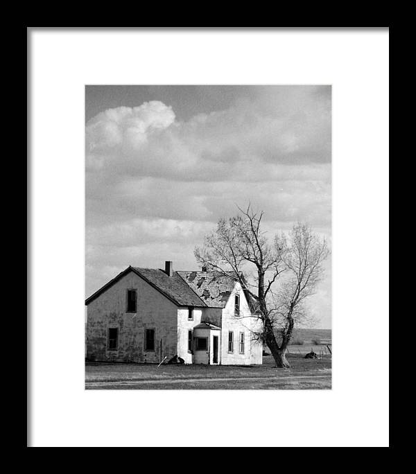 House Framed Print featuring the photograph Broken Dreams by Allan McConnell