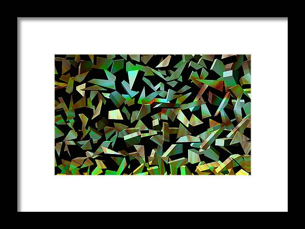 Abstract Art Framed Print featuring the digital art Broken Dreams by Evelyn Patrick