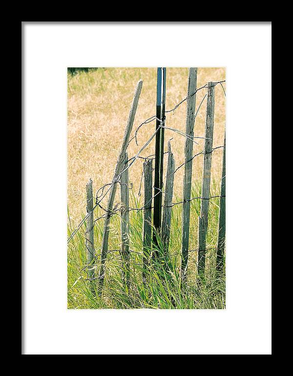 Fence Framed Print featuring the photograph Broken Fence by Lauri Novak