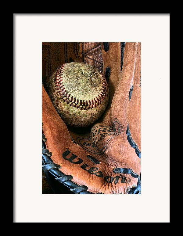 Baseball Framed Print featuring the photograph Broken In by JC Findley