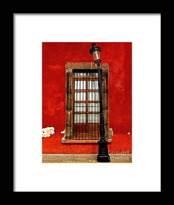 Tlaquepaque Framed Print featuring the photograph Broken Lamp Post by Mexicolors Art Photography