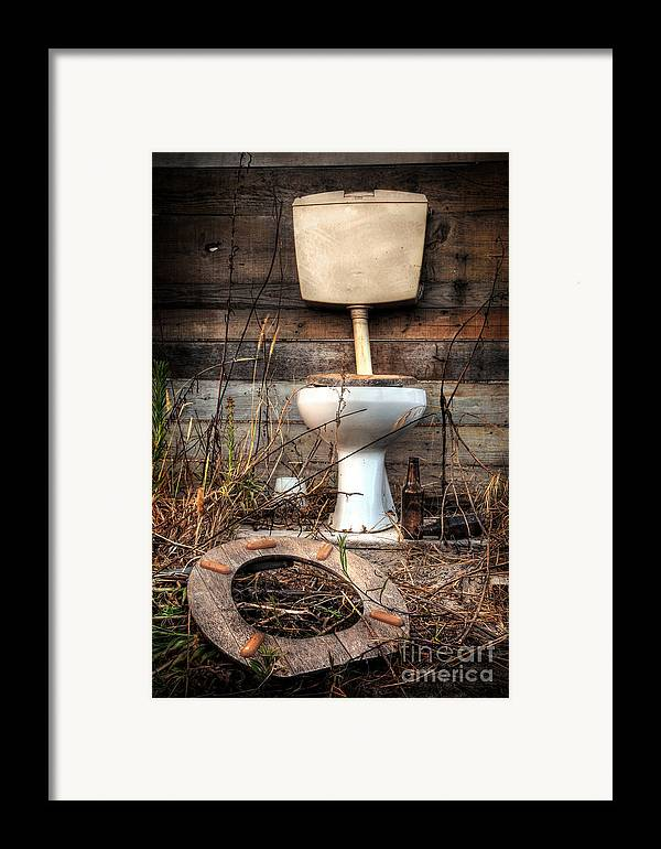 Abandoned Framed Print featuring the photograph Broken Toilet by Carlos Caetano