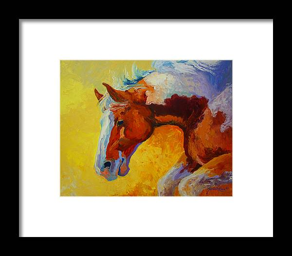 Western Framed Print featuring the painting Bronc I by Marion Rose