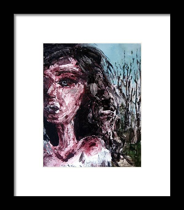 Female Framed Print featuring the painting Brontean Heroines by Jenni Walford