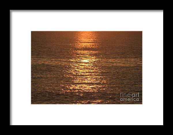 Ocean Framed Print featuring the photograph Bronze Reflections by Nadine Rippelmeyer