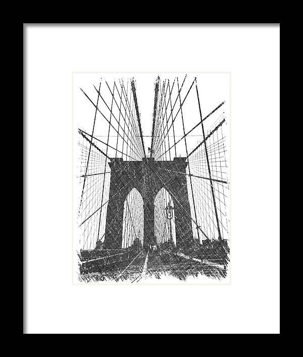 Brooklyn Framed Print featuring the photograph Brooklyn Bridge by Dick Goodman