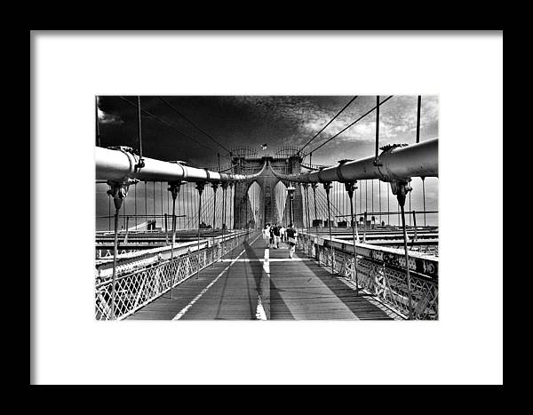 Brooklyn Bridge Framed Print featuring the photograph Brooklyn Brige by Andrew Dinh
