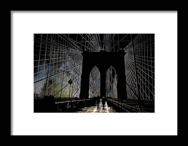 Brooklyn Framed Print featuring the photograph Brooklyn Gateway by Jeff Watts