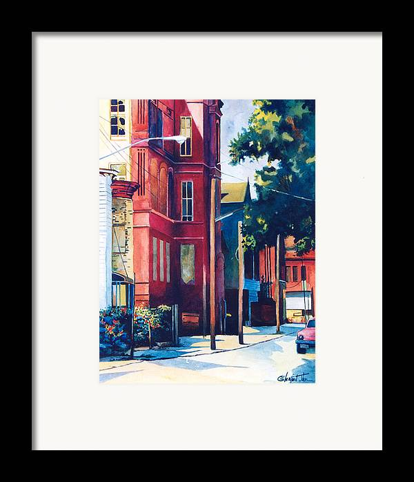 Urban Scenery Framed Print featuring the painting Brooklyn by Glenford John