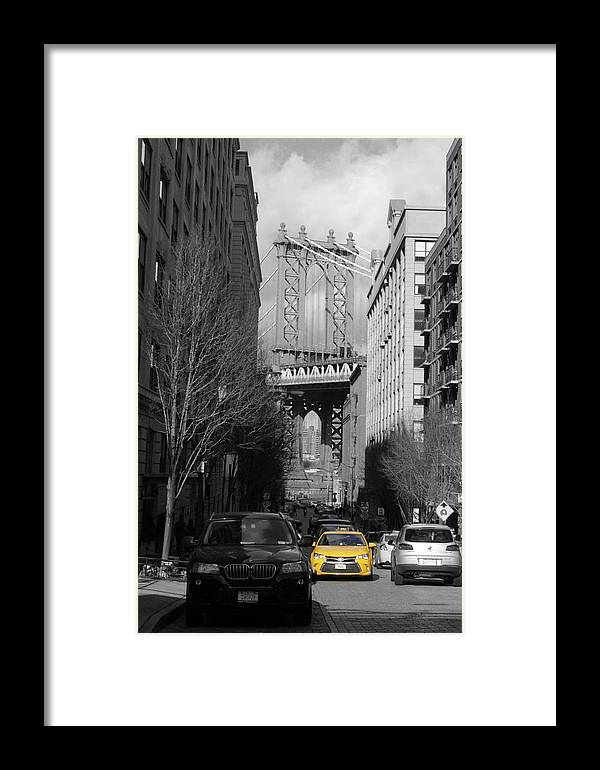 Taxi Framed Print featuring the photograph Brooklyn Taxi by Peter Kiprillis
