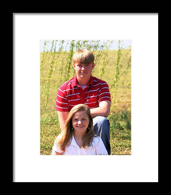Framed Print featuring the photograph Brother And Sister by Lisa Johnston