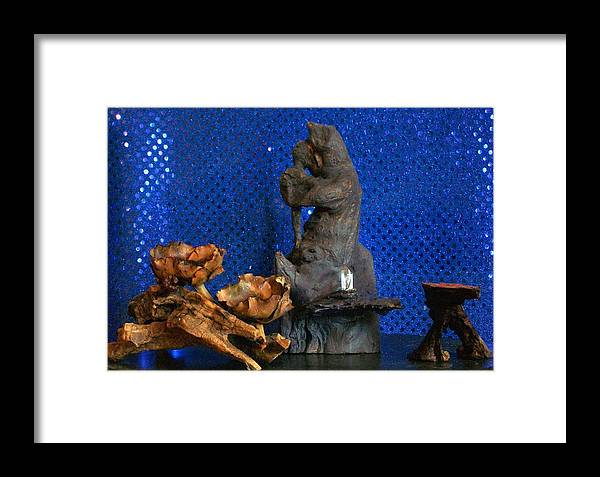 Bear Framed Print featuring the photograph Brother Bear by Carolyn Cable