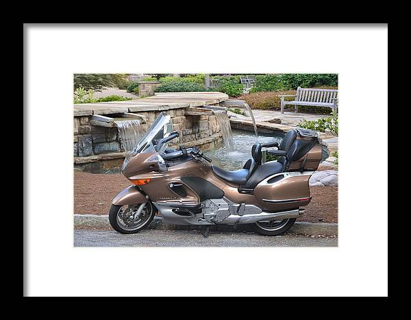 Motor Cycle Framed Print featuring the photograph Brown Bmw by Cleotha Williams