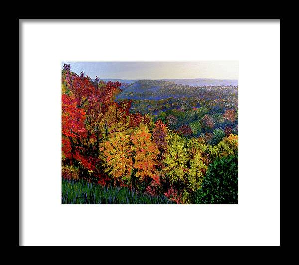 Landscape Framed Print featuring the painting Brown County Autumn by Stan Hamilton