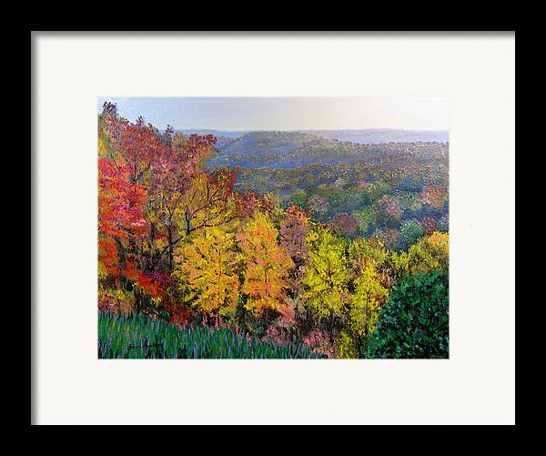 Fall Framed Print featuring the painting Brown County Vista by Stan Hamilton