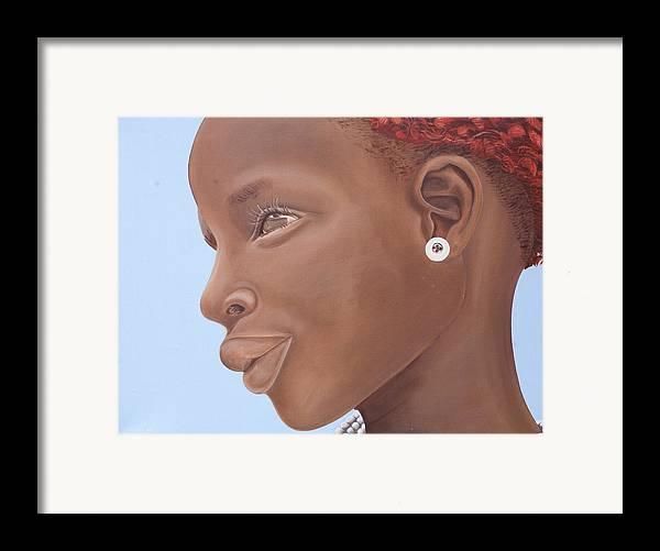 Kaaria Framed Print featuring the painting Brown Introspection by Kaaria Mucherera