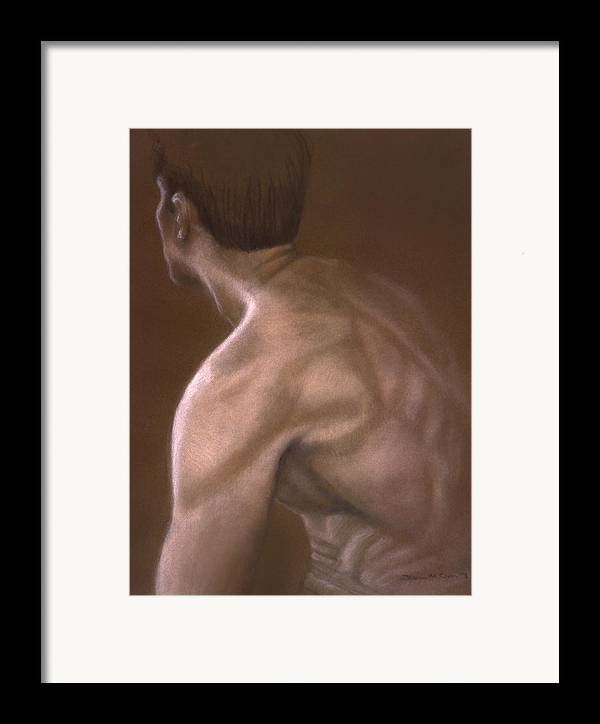 Man Framed Print featuring the painting Brown Iv by John Clum