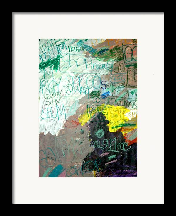Abstract Framed Print featuring the mixed media Brown Paper by Andrew Hagopian