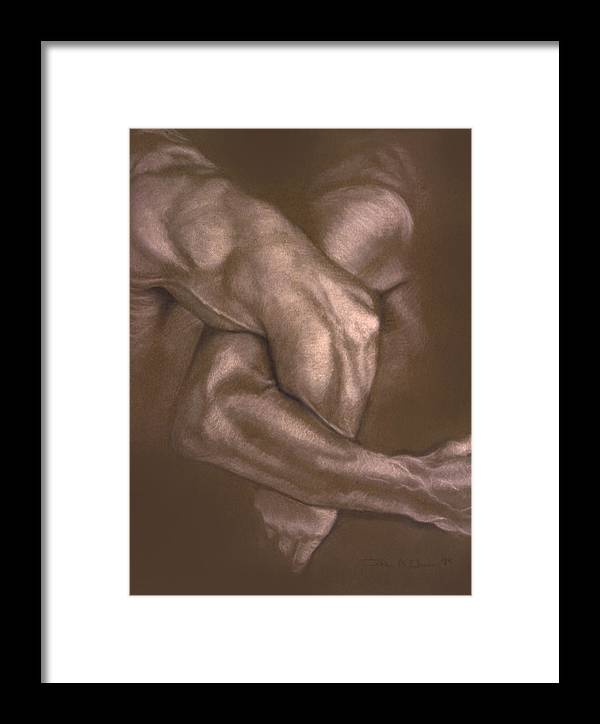 Men Framed Print featuring the painting Brown Series Vi by John Clum