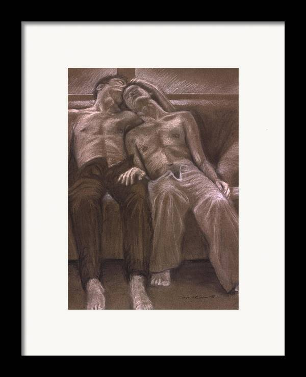 Male Framed Print featuring the painting Brown Series Xvi by John Clum