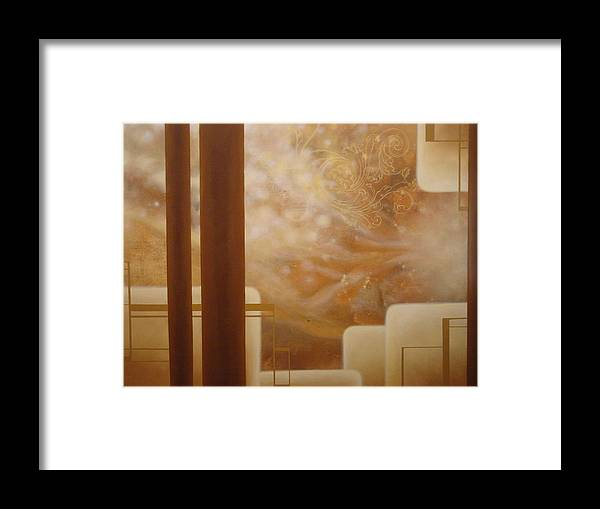 Brown Framed Print featuring the painting Brown Sugar Makes It Better by Monica James