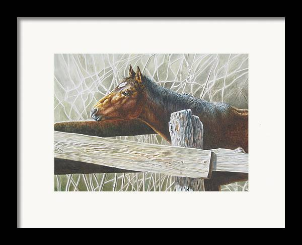 Figurative Framed Print featuring the painting Brownie by Arnold Hurley