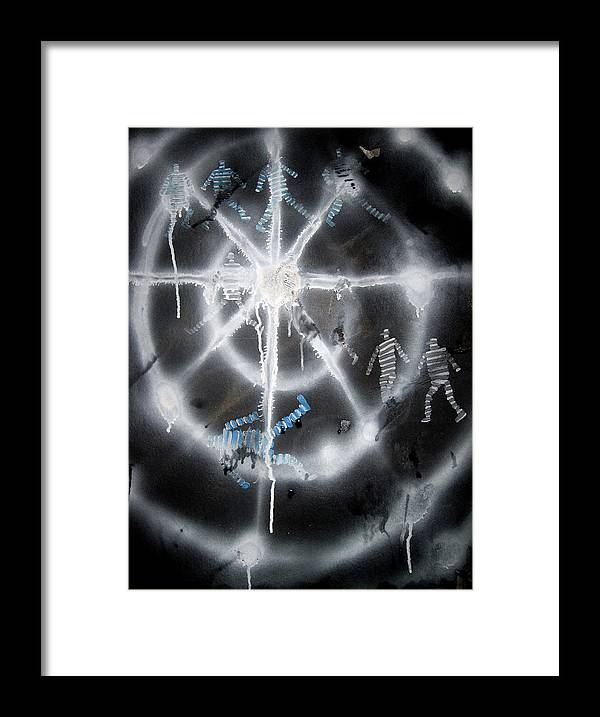 Star Framed Print featuring the painting Bruceleigh 09 I by Leigh Odom
