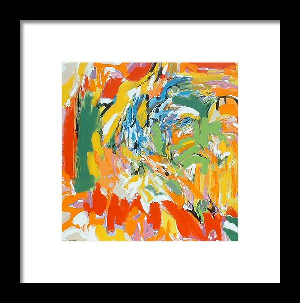 Abstract Framed Print featuring the painting Bruckner by Garry Pisarek