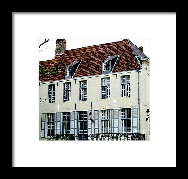 Bruges Framed Print featuring the photograph Bruges 19 by Randall Weidner